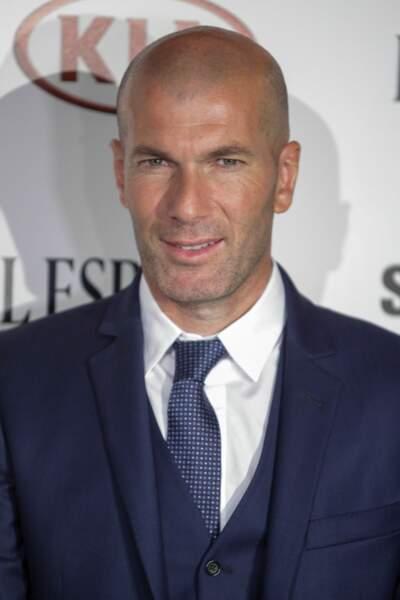Zinédine Zidane à la soirée des Leones El Espanol awards à Madrid le 19 octobre 2017