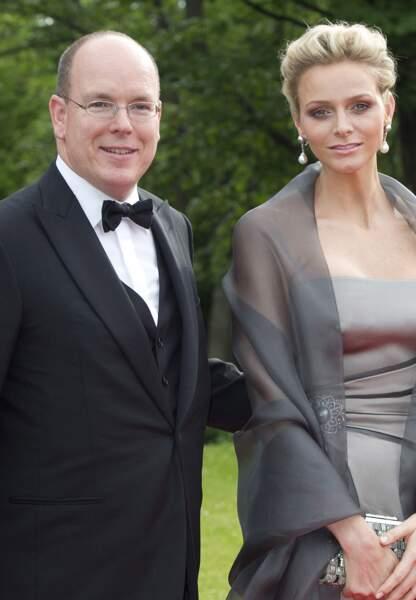 Le couple Albert et Charlène en 2010