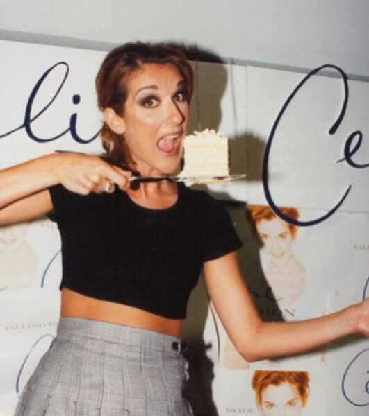 Céline Dion n'est jamais la dernière à faire la blague.