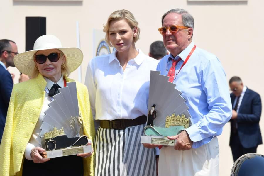 La princesse Charlène de Monaco remet le prix Bella Machina