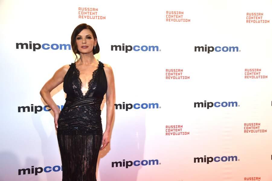 Catherine Zeta-Jones était à la soirée d'ouverture du MIPCOM