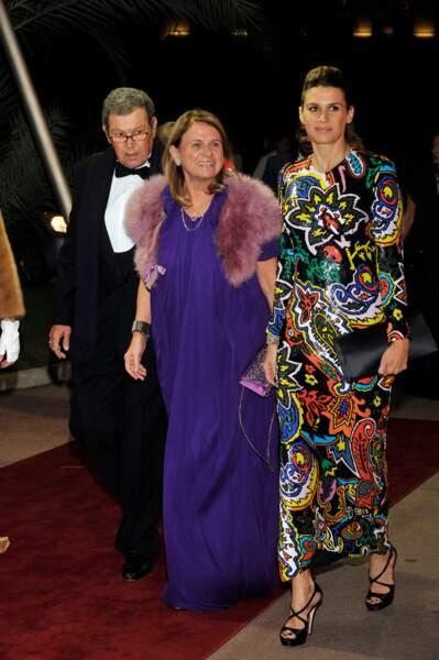 Alexandra Pastor et ses parents à la soirée de gala de l'association Monégasque contre l'autisme