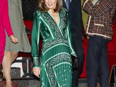 PHOTOS - Letizia d'Espagne ultra glamour dans une robe fluide Sandro