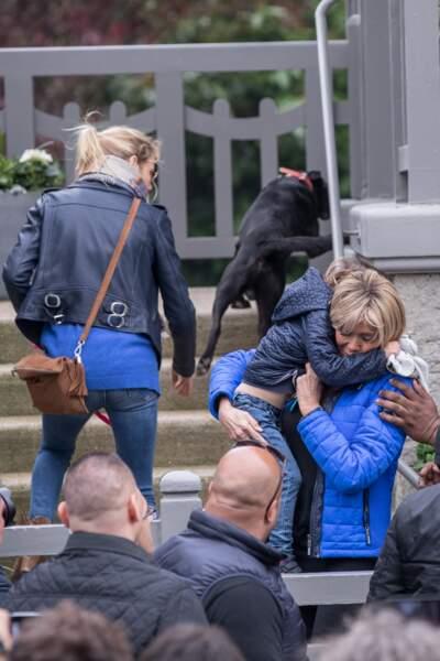 Brigitte Macron, sa fille et son gendre et leurs enfants