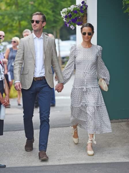 Pippa Middleton porte des espadrilles tout l'été et même en ville