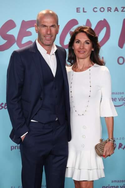 """Zinedine Zidane et sa femme Véronique pour la Première de """"Le coeur de Sergio Ramos"""" à Madrid le 10 septembre 2019"""