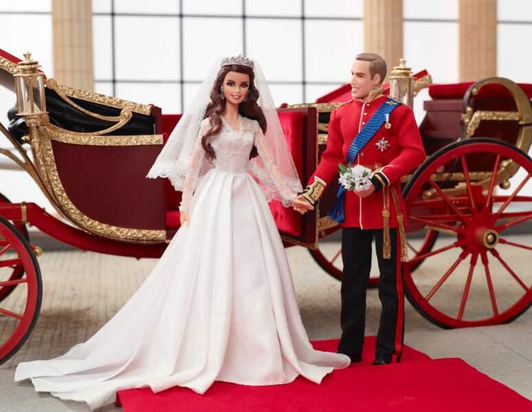 Le couple princier britannique a eu droit à une déclinaison en poupées Barbie
