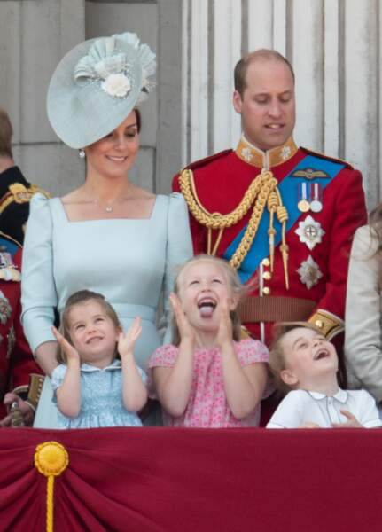 Le prince William, Kate Middleton, la princesse Charlotte, Savannah Phillips et le prince George