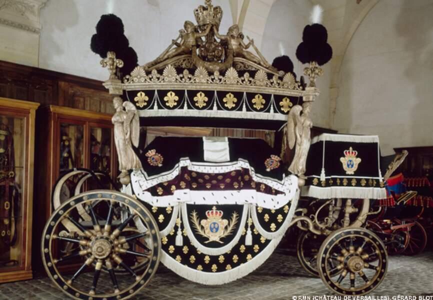 "Char funèbre de Louis XVIII "" Le corbillard """