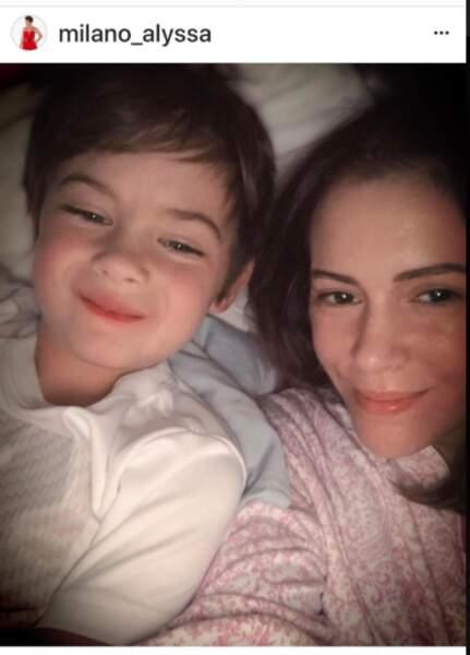 Alyssa Milano et son fils, Milo