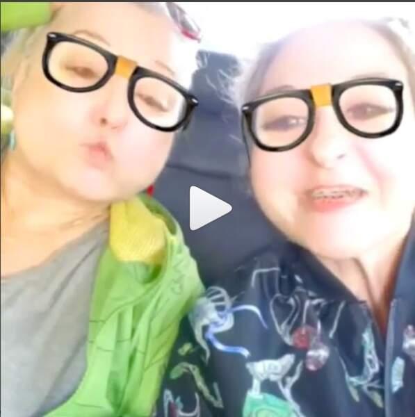 Marilou et Josiane fans de Snapchat