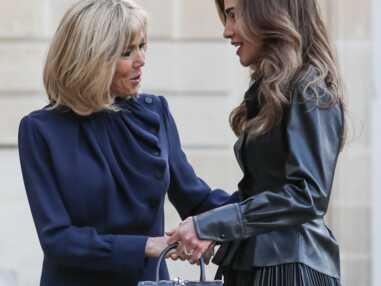 PHOTOS - Brigitte Macron et Rania de Jordanie rivalisent d'élégance à l'Elysée