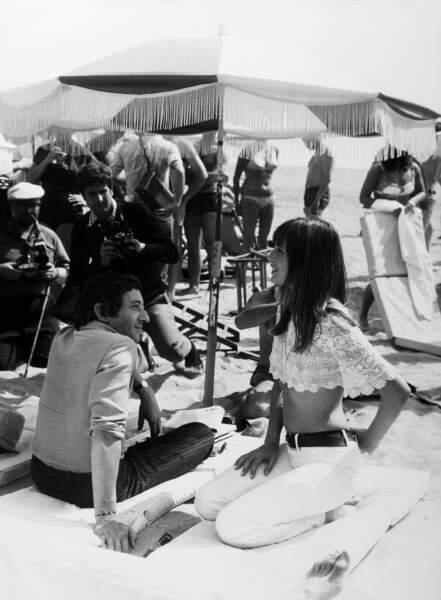 Jane Birkin et Serge Gainsbourg en 1969, année érotique évidement