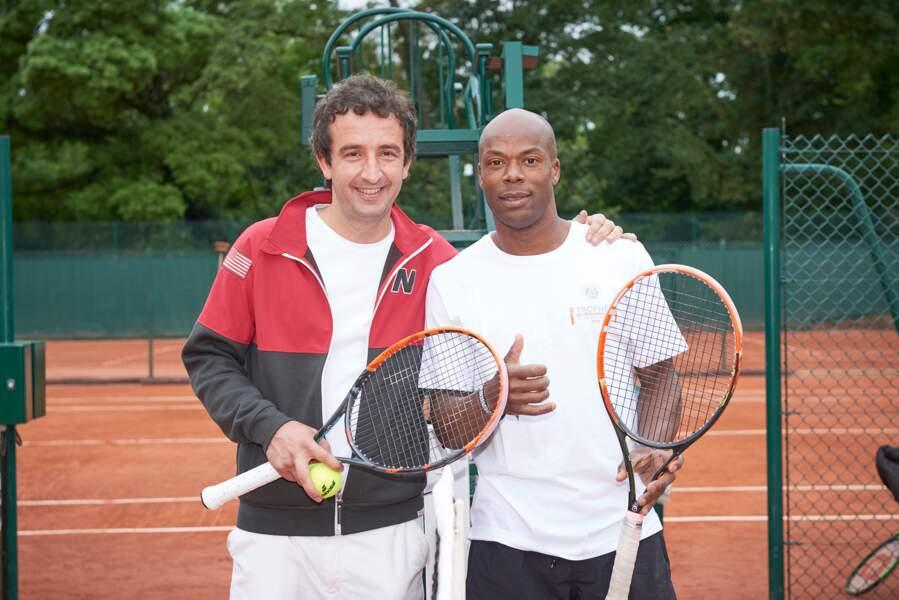 Cyrille Eldin et Sylvain Wiltord à l'heure de la finale