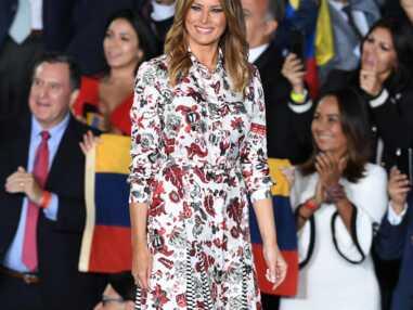 PHOTOS - Melania Trump bohème en robe fleurie