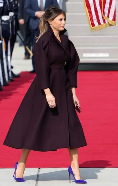 Melania Trump sublime queue-de-cheval et Louboutin