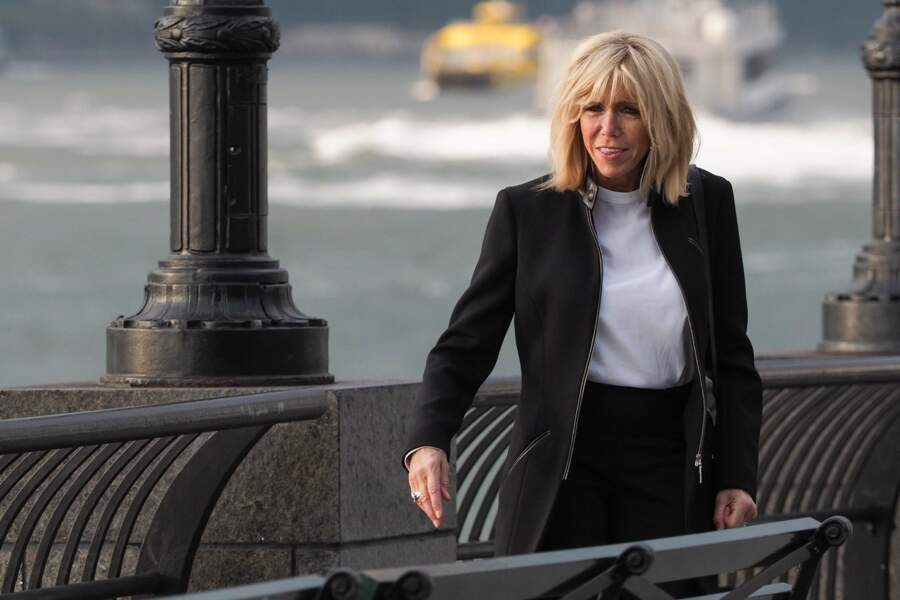 Brigitte Macron est à New York avec son mari Emmanuel Macron