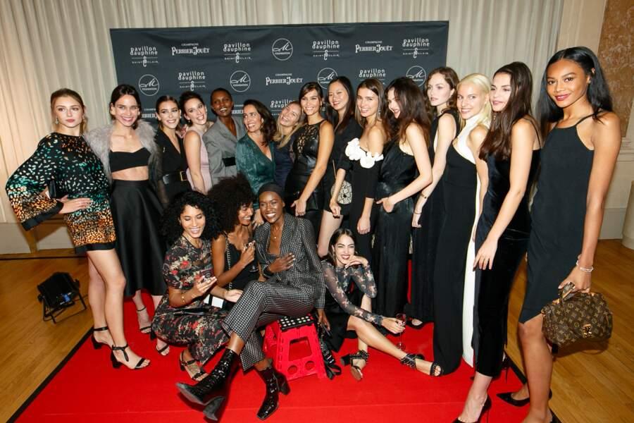 Les mannequins de l'agence Mademoiselle qui a créé en 2015 la M Foundation
