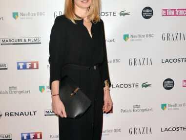 Julie Gayet en total look noir au Trophées du film français
