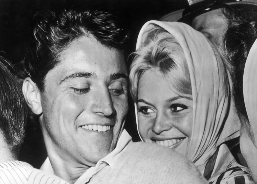 Brigitte Bardot et Sacha Distel Septembre 1958