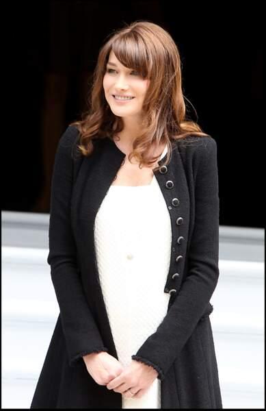 En 2011, Carla Bruni-Sarkozy est enceinte.