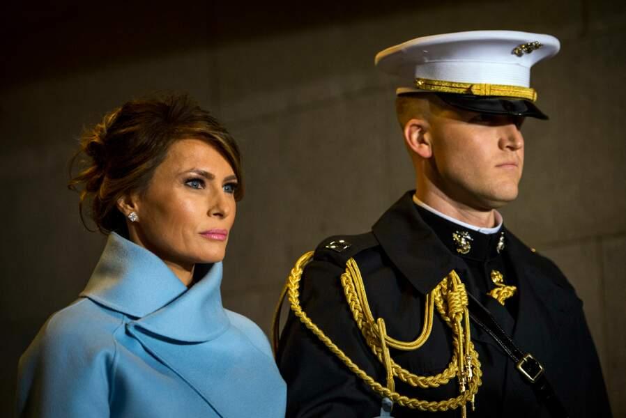 Melania Trump lors de l'investiture de Donald Trump en tant que 45e président des Etats-Unis le 20 janvier 2017