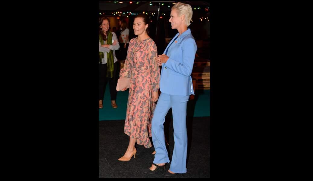 Victoria de Suède opte pour une robe longue, le 13 juin 2019.