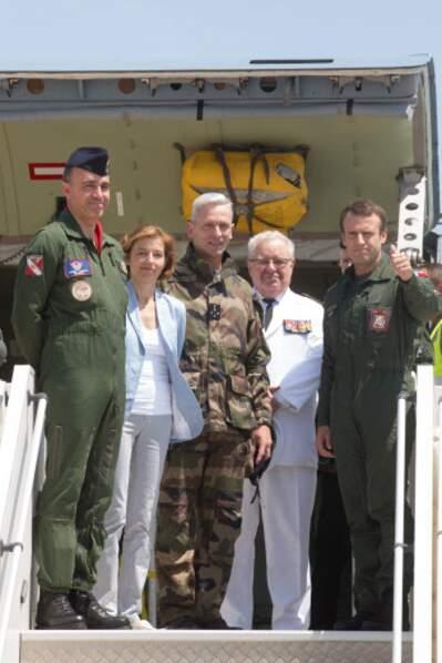 Emmanuel Macron, sur la base aérienne d'Istres, le 20 juillet 2017.