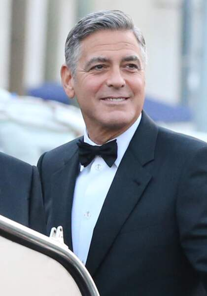 George Clooney, un marié ultra chic en nœud-papillon pour épouser Amal Alamuddin le 26 septembre 2014