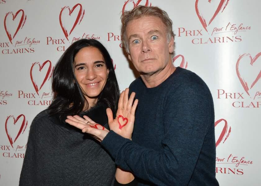 Franck Dubosc et sa femme Danièle - Goûter du Coeur du prix Clarins pour l'enfance