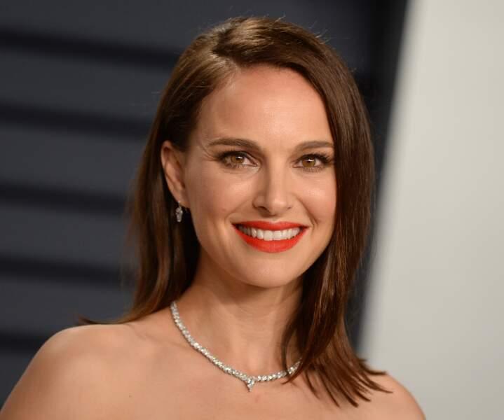 Le brushing de soirée de Natalie Portman.