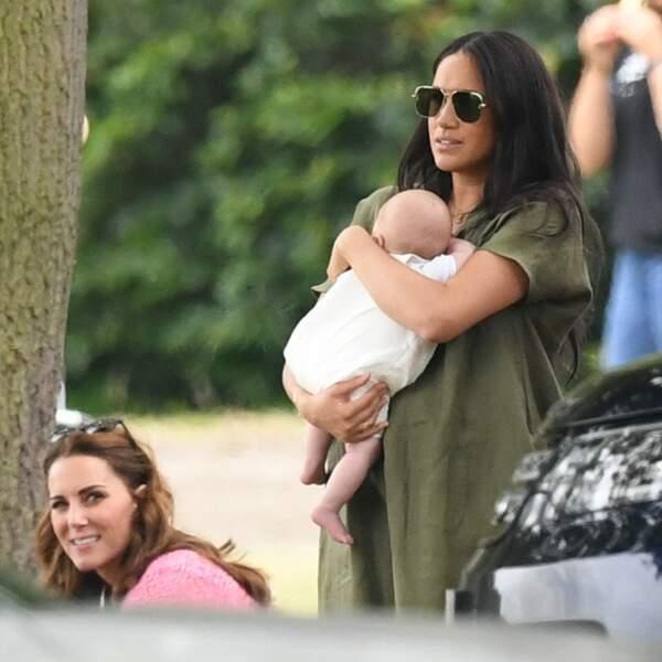Meghan Markle aux côtés de sa belle-soeur Kate Middleton