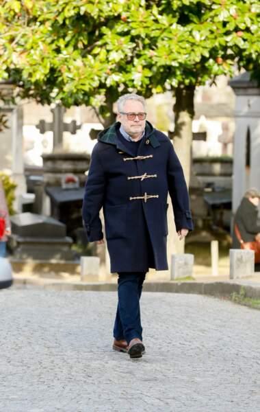 L'attaché de presse Dominique Segall au Père Lachaise pour les obsèques de Maria Pacôme, le 10 décembre 2018