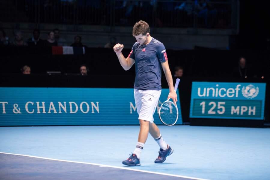 Le jeune Autrichien s'est imposé à l'ATP World Tour (Londres) face à Gaël Monfils, en novembre 2016