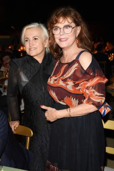Silvia Venturini Fendi et Susan Sarandon se sont retrouvées lors du diner Fendi.