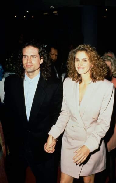 Avec son compagnon Jason Patric en 1991 à Los Angeles