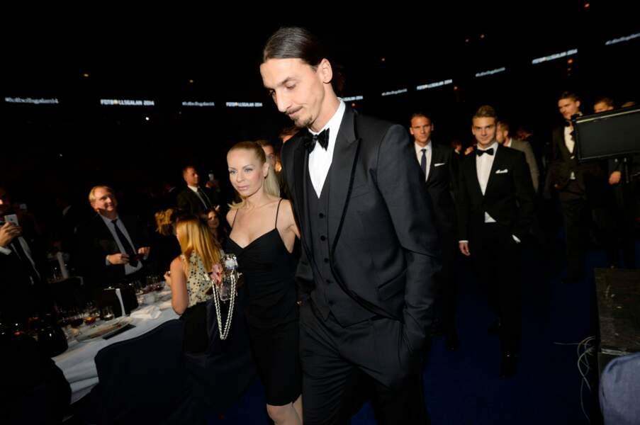 Zlatan Ibrahimovic (36 ans) et sa compagne Helena Seger. Onze années les séparent.