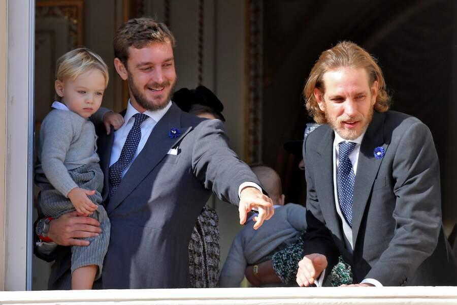 Pierre avec son fils Stefano en compagnie de son frère Andrea