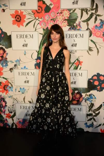Annabelle Belmondo lors de la soirée de lancement de la collection Erdem x H&M à Paris le 26 octobre 2017