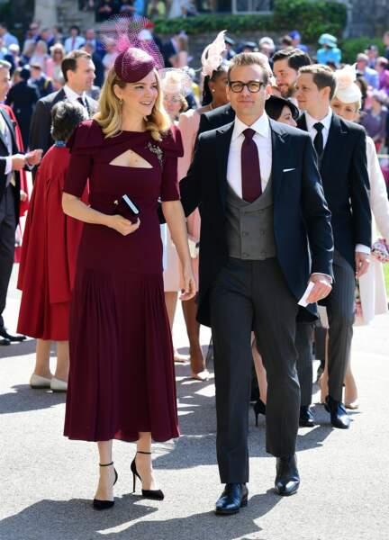 Gabriel Macht et sa femme Jacinda Barrett au mariage du prince Harry et de Meghan Markle le 19 mai 2018