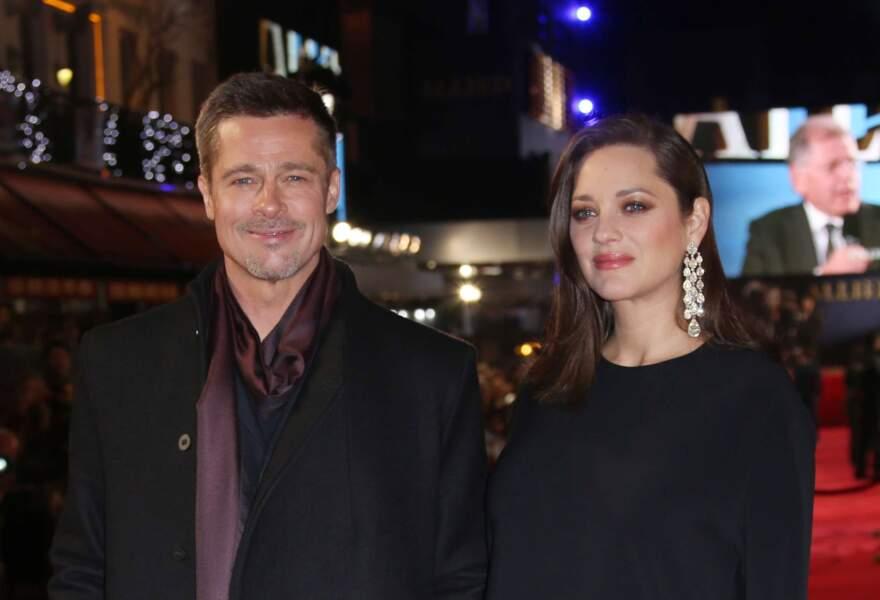 Avec son partenaire dans le film Brad Pitt