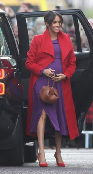 Meghan Markle, à son arrivée à Birkenhead, le 14 janvier 2019
