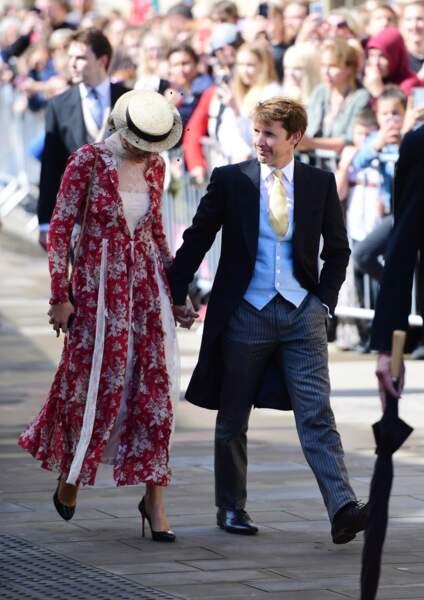 James Bunt et sa femme Sofia Wellesley au mariage d'Ellie Goulding, à Londres, le 31 août 2019.