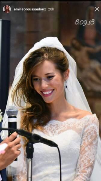 Un an après son mariage, Emilie Broussouloux a publié des photos de l'événement sur son compte Instagram.