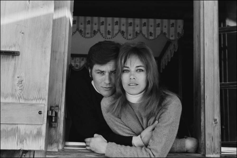 Alain Delon Nathalie Delon 1967