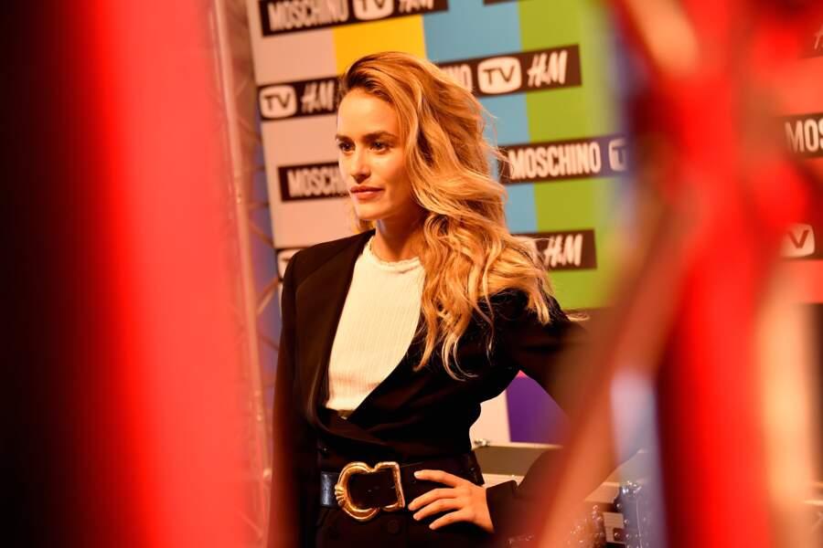 Alice David lors de la soirée de lancement de la collection Moschino x H&M