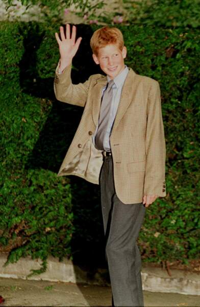Le prince Harry à 14 ans à l'école, dans le Berkshire