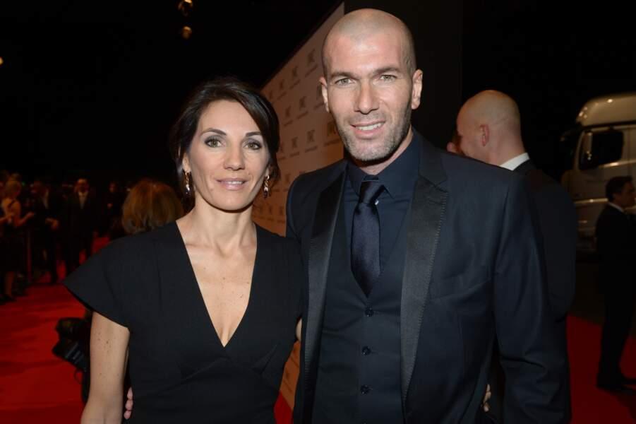 Zinédine Zidane et sa femme Véronique lors d'une soirée IWC Schaffhausen à Genève en 2013