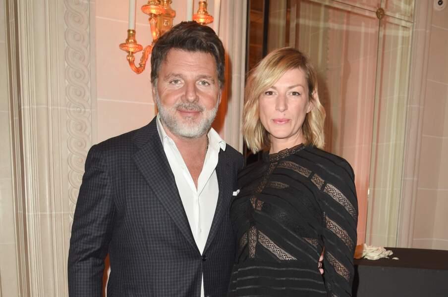 Philippe Lellouche et Vanessa Boisjean étaient assortis, tous les deux en noir