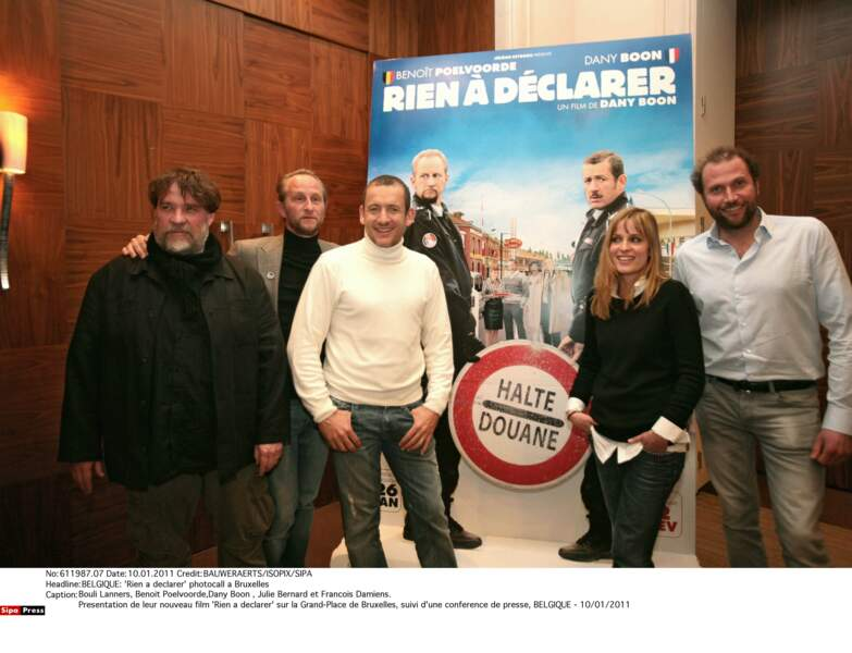 En 2011, avec l'équipe du film Rien à déclarer